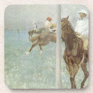 Jockeys Before the Race by Edgar Degas Coaster