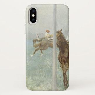 Jockeys Before the Race by Edgar Degas iPhone X Case