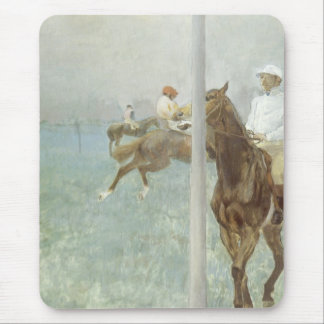 Jockeys Before the Race by Edgar Degas Mouse Pad
