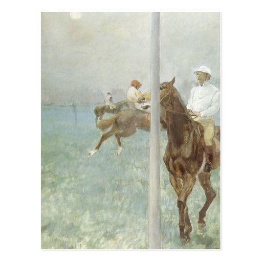 Jockeys Before the Race by Edgar Degas Postcard