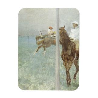 Jockeys Before the Race by Edgar Degas Rectangular Photo Magnet
