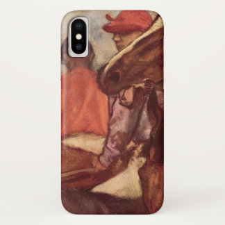 Jockeys by Edgar Degas, Vintage Horse Racing Art iPhone X Case