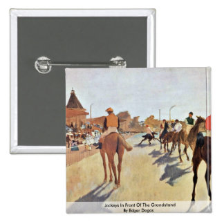 Jockeys In Front Of The Grandstand By Edgar Degas Pins