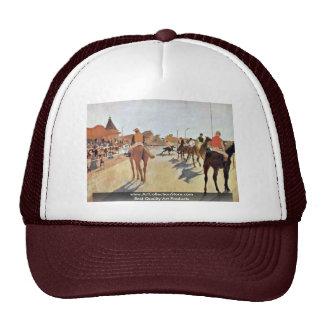 Jockeys In Front Of The Grandstand By Edgar Degas Trucker Hats