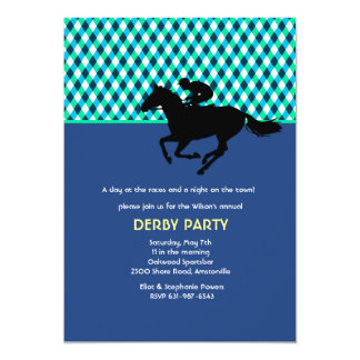 Jockey's Pride Blue Invitation