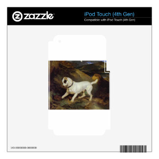Jocko with a Hedgehog by Edwin Henry Landseer iPod Touch 4G Decals
