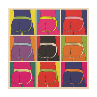Jockstrap Desire Nine Wood Wall Art
