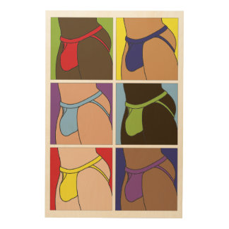 Jockstrap Fantasy Six Wood Print
