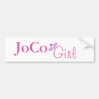 JoCo Girl on white Bumper Sticker