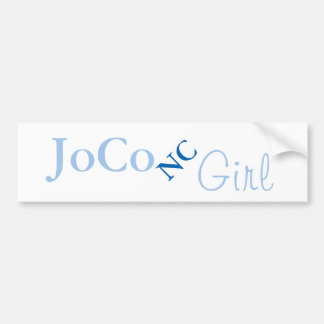 JoCo NC Girl on white Bumper Sticker