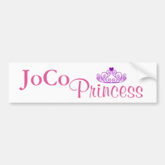 JoCo Princess on white Bumper Sticker