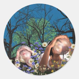 Jodel Bubbles Classic Round Sticker