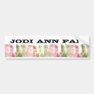 Jodi Ann Fan Bumper Sticker