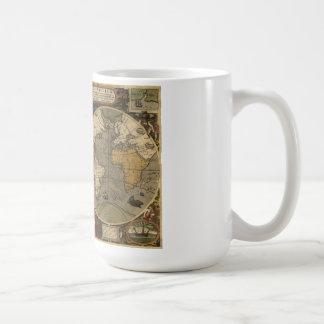 Jodocus Hondius 1595 Map of The World Coffee Mug