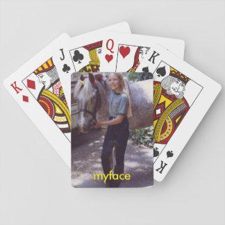 Jody con los naipes oxidados del myface barajas de cartas