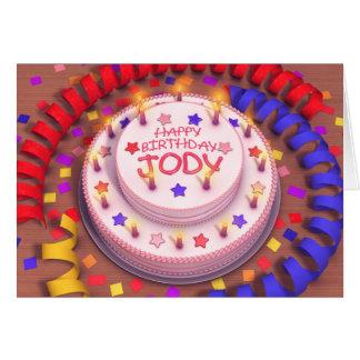 Jody's Birthday Cake Card