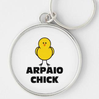 Joe Arpaio Chick Silver-Colored Round Keychain