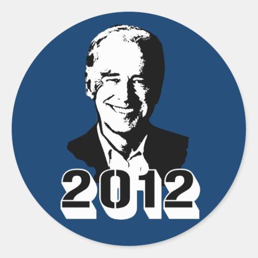 Joe Biden 2012 Etiquetas Redondas