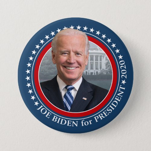 Joe Biden 2020 for President Photo White House Button