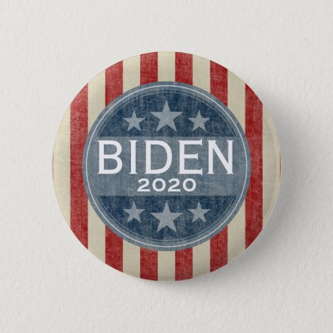 Joe Biden 2020 - vintage stars and stripes Button