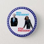 "Joe Biden 46th President Button<br><div class=""desc"">Kamala Harris 47th President</div>"