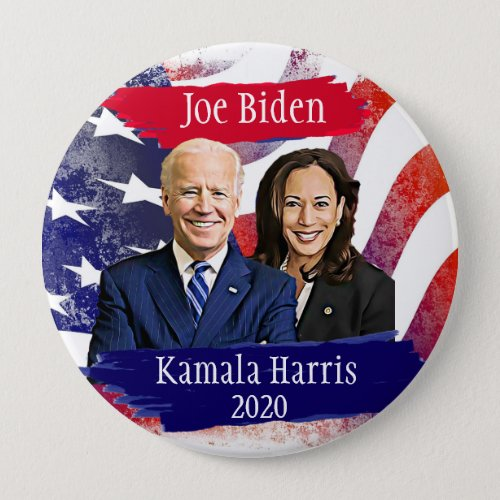 Joe Biden and Kamala Harris 2020 US Election Button