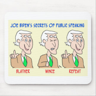 Joe Biden blather wince repeat Mouse Pad