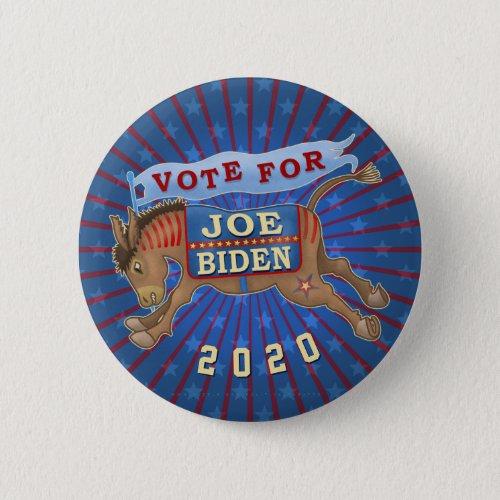 Joe Biden for President 2020 Democrat Donkey Button