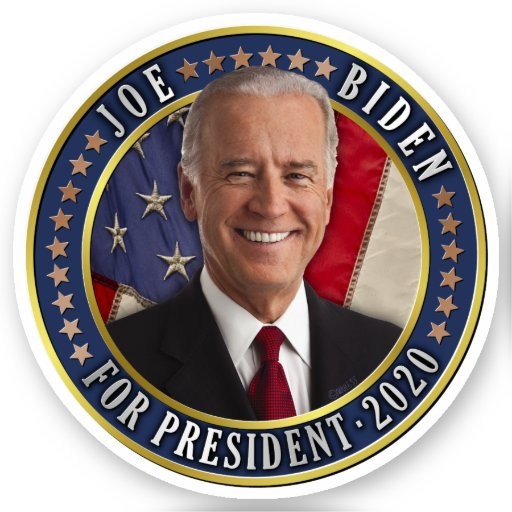 Joe Biden for President 2020 Democrat Photo Sticker