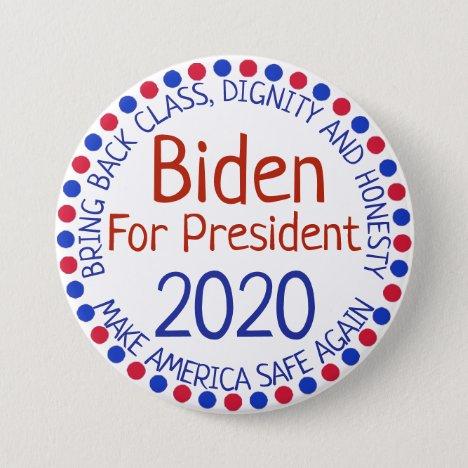 Joe Biden for President Election 2020 Button