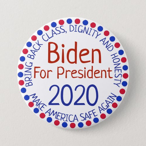 Joe Biden for President Election 2020 Button