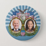 """Joe Biden Kamala Harris 2020 Collectible Jugate Button<br><div class=""""desc"""">A classic design featuring a picture of the man running for president and woman running for Vice President. An ornate design with a vintage look and highly collectible. Check our store for other candidates and campaigns.</div>"""
