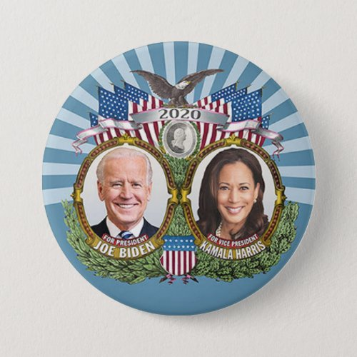 Joe Biden Kamala Harris 2020 Collectible Jugate Button