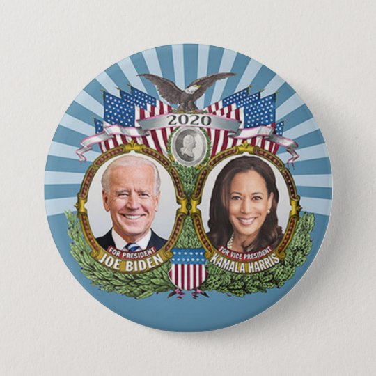 Joe Biden Kamala Harris 2020 Collectible Jugate Button Zazzle Com