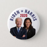 "Joe Biden Kamala Harris 2020 President Vice Photos Button<br><div class=""desc"">This design says,  ""Joe Biden / Kamala Harris 2020"" and includes a photograph of Joe Biden and Kamala Harris 
