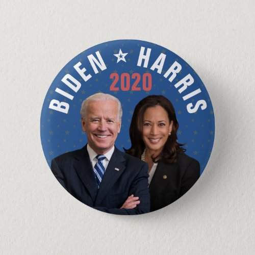 Joe Biden Kamala Harris President Vice 2020 Photos Button