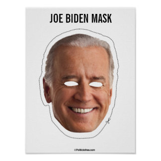 Joe Biden Mask Cutout Poster