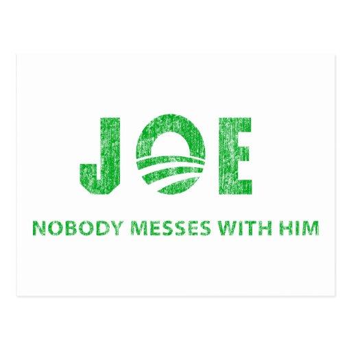 Joe Biden - Nobody Messes With Him - Barack Obama Postcards