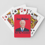 Joe Biden Not My President Red Backed Playing Cards