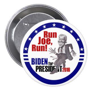 Joe Biden para el presidente 2016 Pin Redondo De 3 Pulgadas