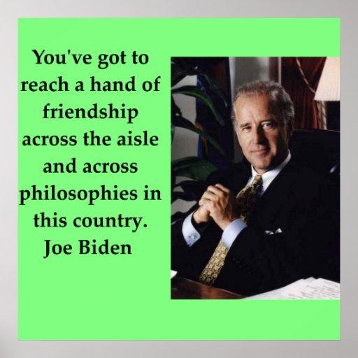 Joe Biden quote Poster