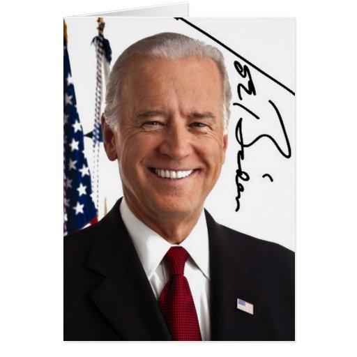 Joe Biden Signature Greeting Card