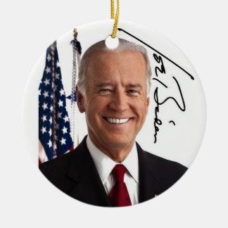 Joe Biden Signature Ornament Round Ceramic Ornament