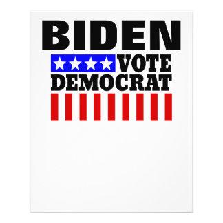 Joe Biden Vote Democrat  for President Flyer