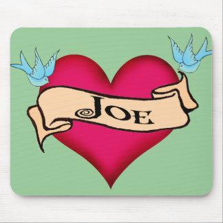 Joe - camisetas y regalos de encargo del tatuaje d tapetes de raton