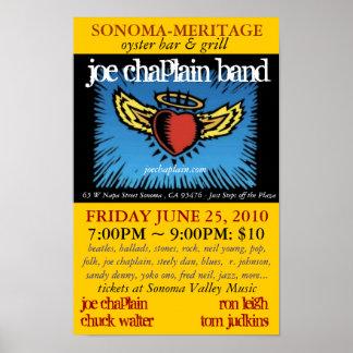 Joe Chaplain Band Meritage 2010 Poster