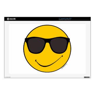 """Joe Cool Smiley 17"""" Laptop Skin"""
