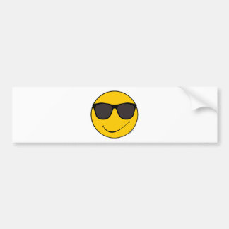 Joe Cool Smiley Bumper Sticker
