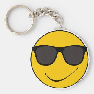 Joe Cool Smiley Keychain