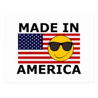 Joe Cool Smiley Made in America Postcard
